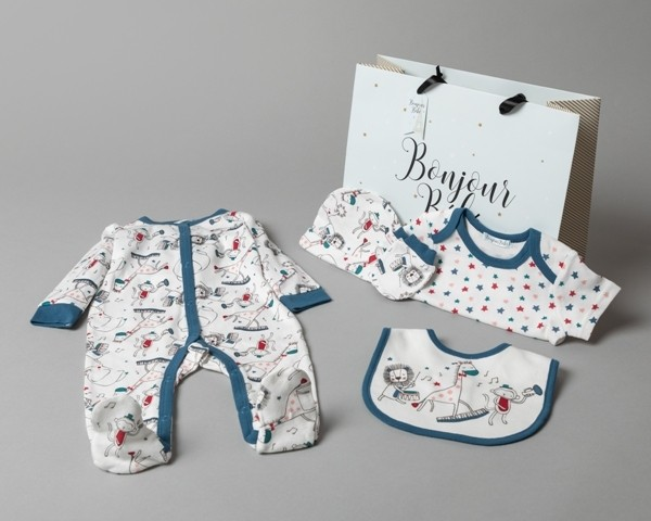 Bonjour Bebe Baby Boys 'Circus' 5 Pieces  Set in Net Bag PACK OF 4