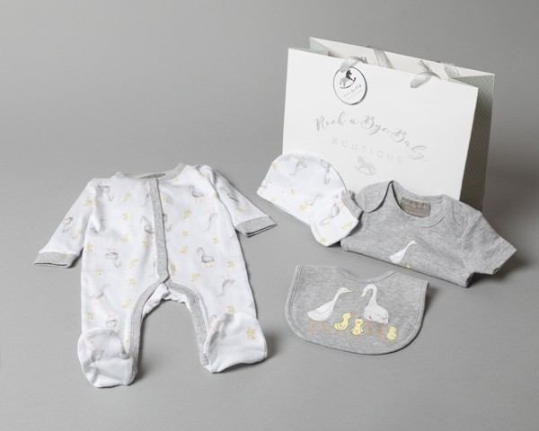 Rock a Bye Baby Boutique  'Ducks'  Baby Boys 5 Piece Set PACK OF 4