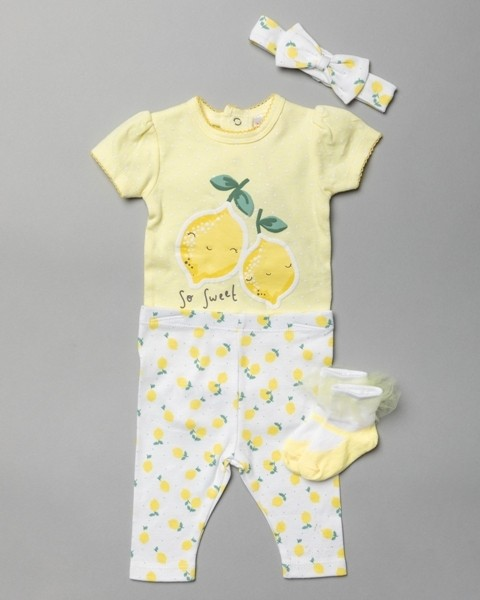 Lily & Jack 'Lemon' Baby Girls 4 Pieces Set  PACK OF 6