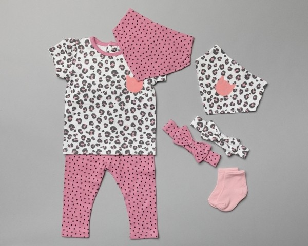 Lily & Jack 'Leopard Print' Baby Girls 7 Pieces Set  PACK OF 4