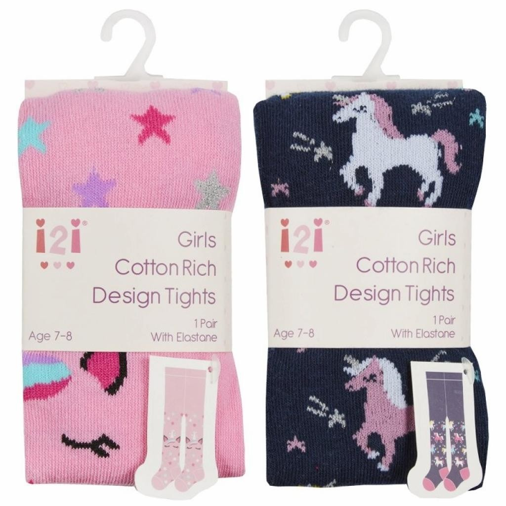 I2I Girls 'Unicorn' Tights PACK OF 8