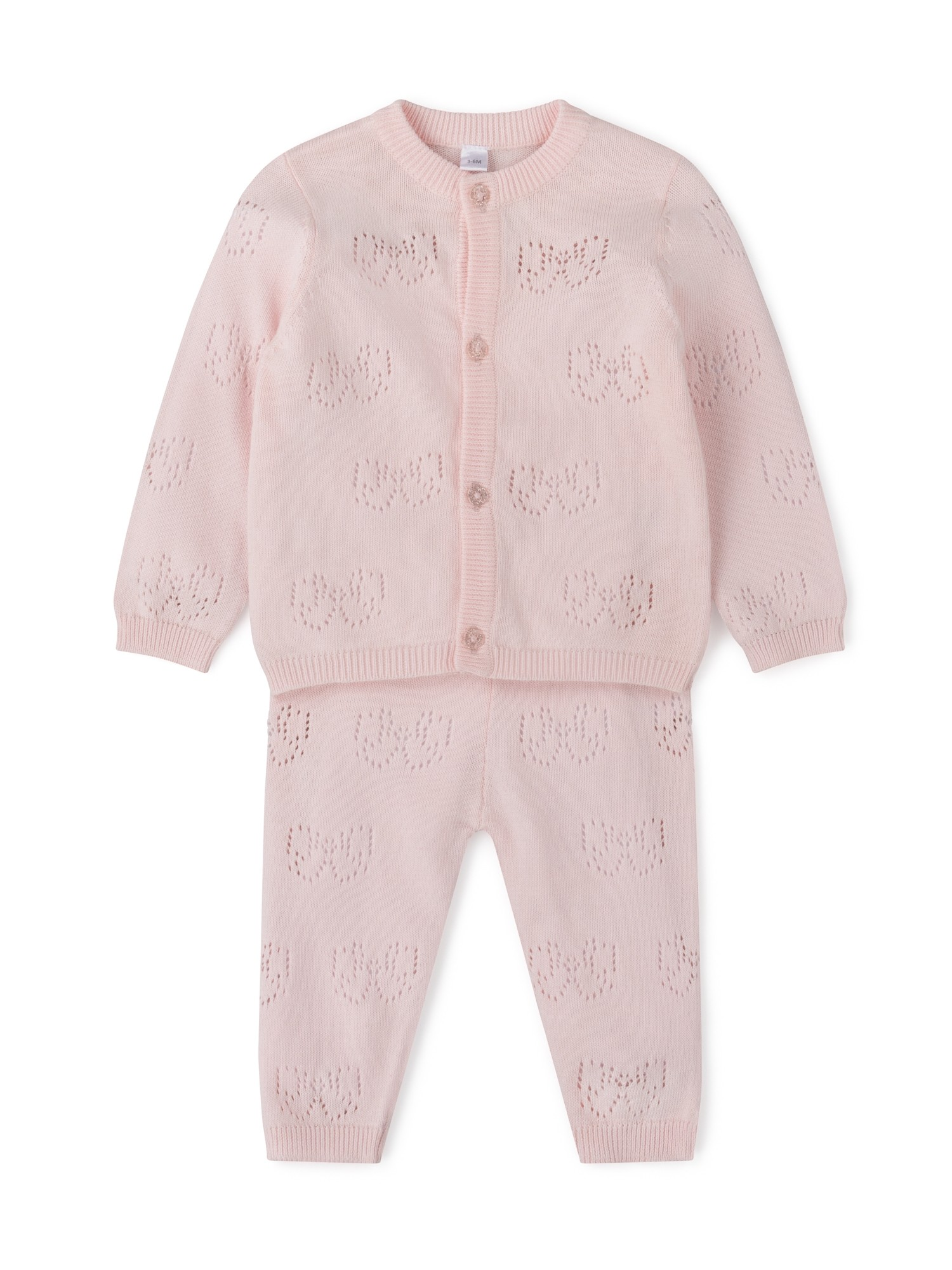 Rock a Bye Baby Boutique 'Bow' Baby Girls Cardigan and Leggings Set PACK OF 6