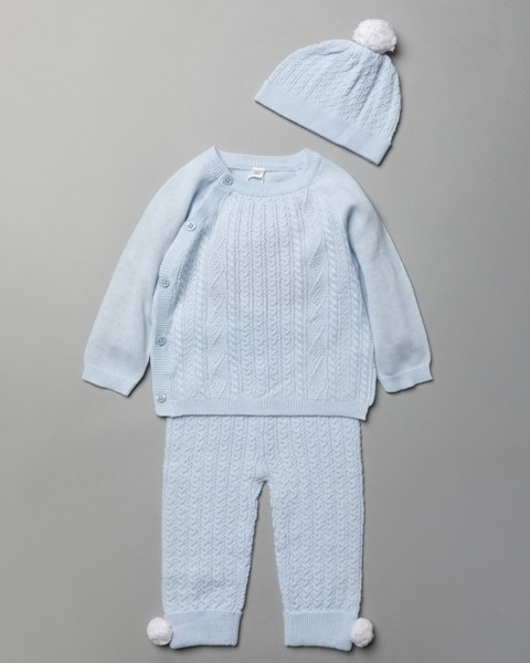 Rock a Bye Baby Boutique Baby Boys 3 Pieces Knitted Set PACK OF 6