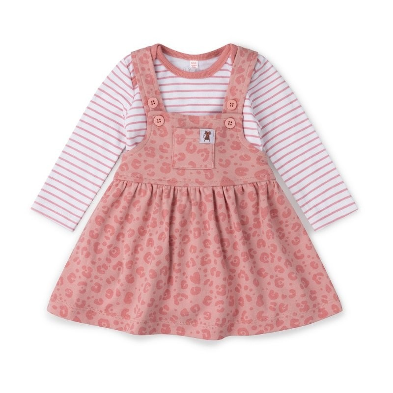 Lily & Jack Green Label Baby Girls Pinafore and Bodysuit Set PACK OF 4