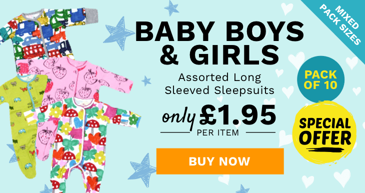 Store Baby Boys and Girls Assorted Long Sleeved Sleepsuits