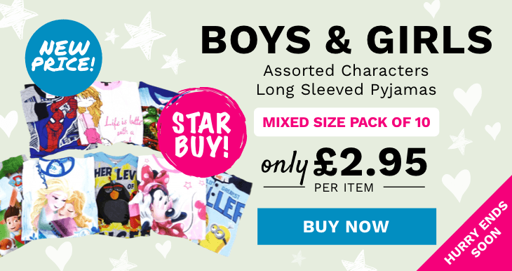 Store Boys and Girls Assorted Characters Long Sleeved Pyjamas