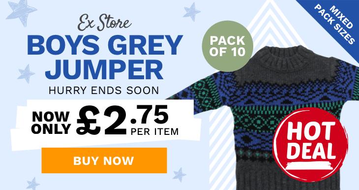 Store Boys Grey Jumper
